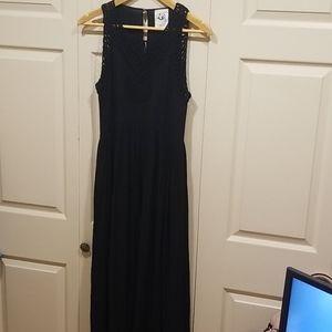 Anthropologie Black Maxi Dress Size XS